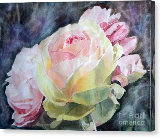 Pink Yellow Rose Angela Canvas Print