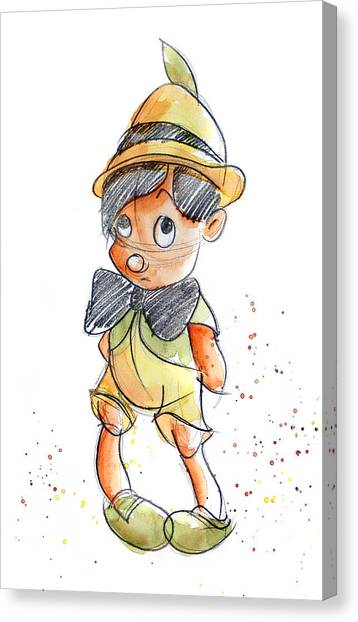 Child Canvas Print - Pinocchio by Andrew Fling