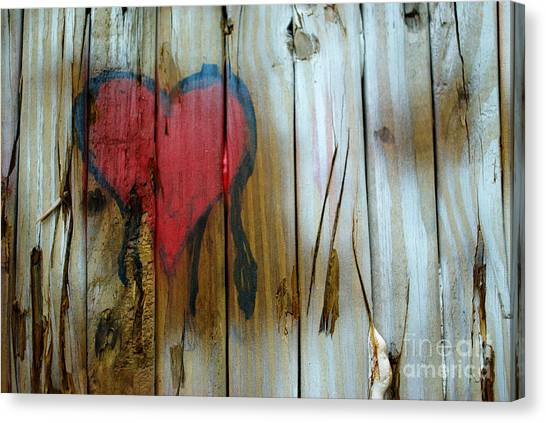 Canvas Print featuring the photograph Pinocchio's Heart by Glenda Wright