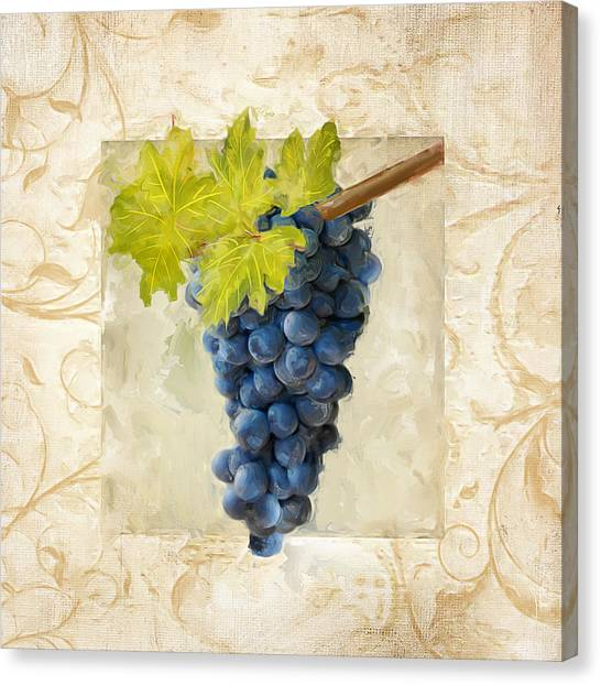 Old Houses Canvas Print - Pinot Noir II by Lourry Legarde