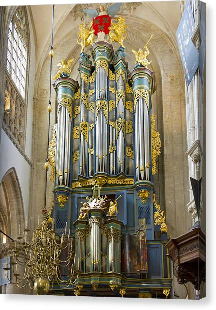Pipe Organ In Breda Grote Kerk Canvas Print