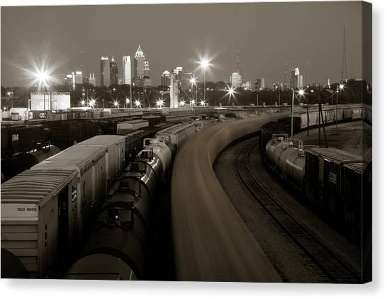 Pipeline To Atlanta Canvas Print by Scott Moore