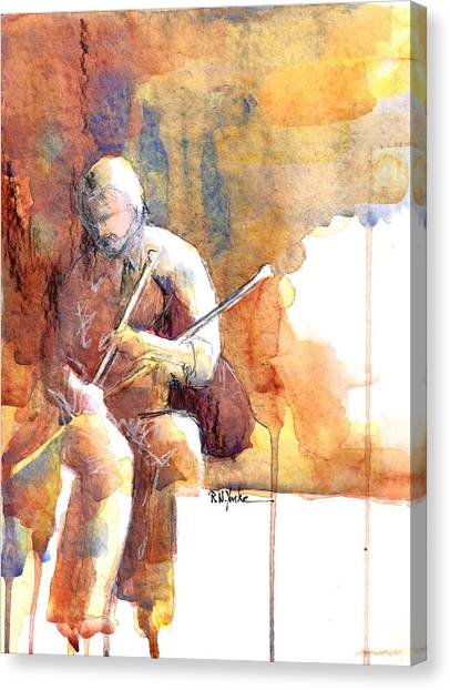 Bagpipes Canvas Print - Piper by Robert Yonke