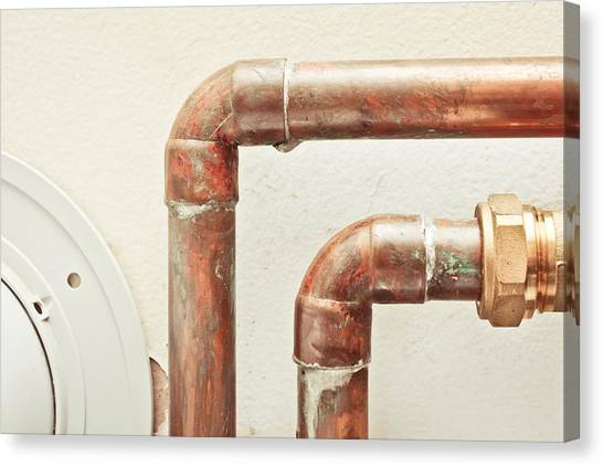 Contractors Canvas Print - Pipes by Tom Gowanlock