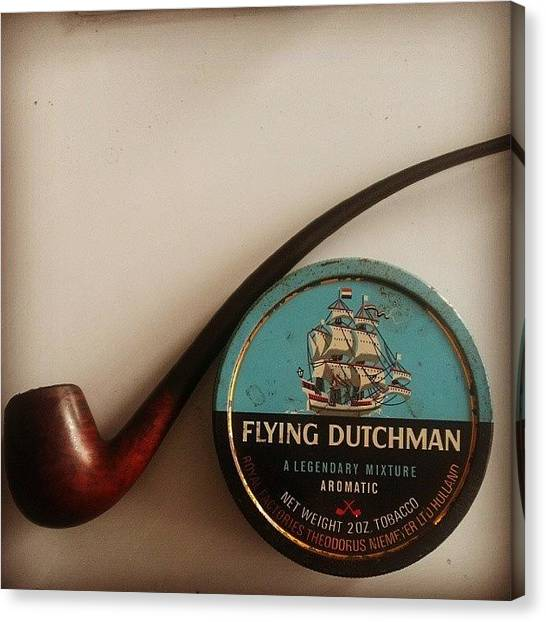 Puffins Canvas Print - #pipesmoking #flyingdutchman by Gary W Norman