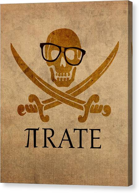 Pirates Canvas Print - Pirate Math Nerd Humor Poster Art by Design Turnpike
