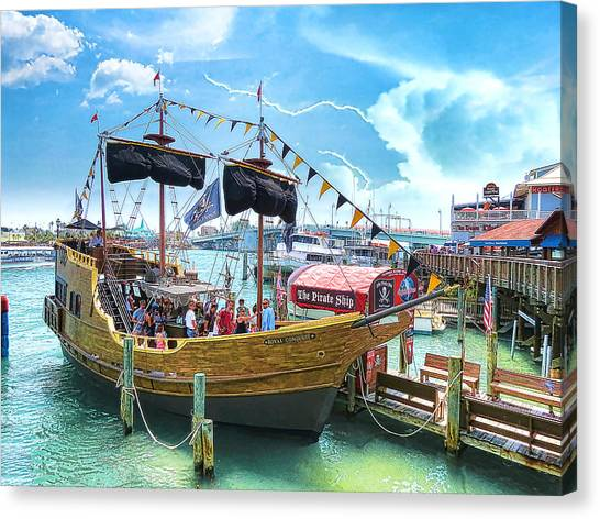 Pirate Ship Canvas Print by Stephen Warren