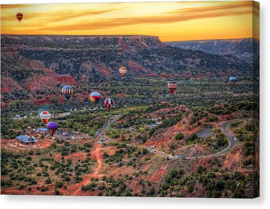 Hot Air Balloons Canvas Print - Pirates Of The Canyon by Tom Weisbrook