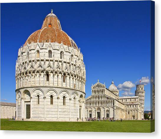 Pisa - Piazza Dei Miracoli Canvas Print