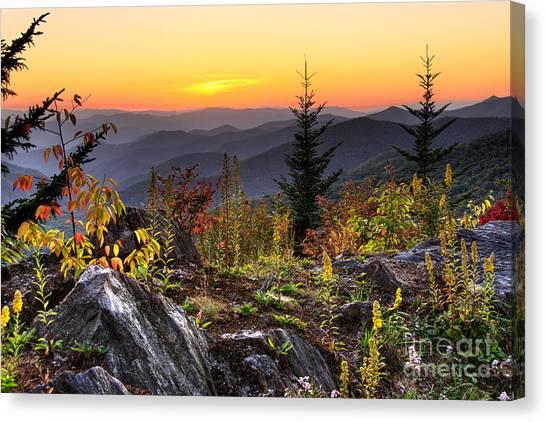 Pisgah Sunset - Blue Ridge Parkway Canvas Print