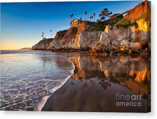 Pismo Cliffs And Reflections Canvas Print