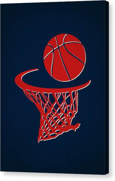 Detroit Pistons Canvas Print - Pistons Team Hoop2 by Joe Hamilton