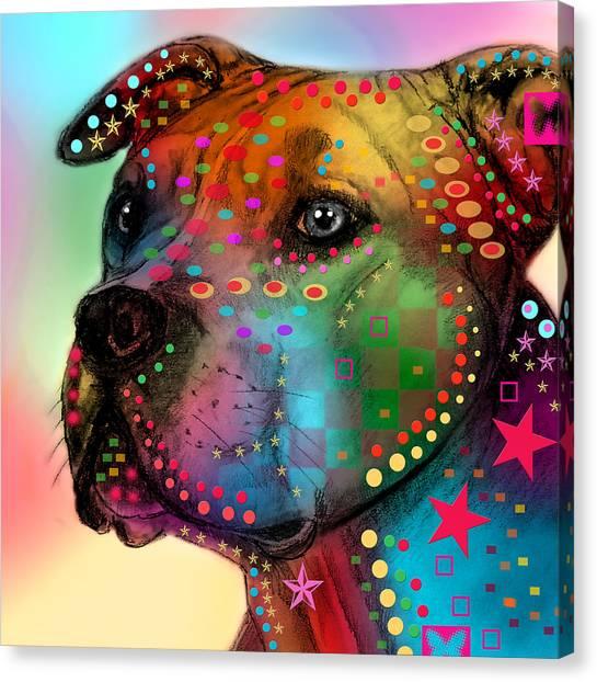 Pit Bull Canvas Print - Pit Bull by Mark Ashkenazi