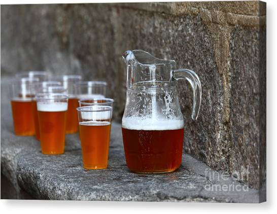 Craft Beer Canvas Print - Pitcher And Friends by James Brunker