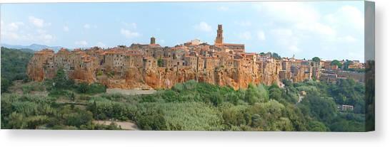 Pitigliano Panorama Canvas Print