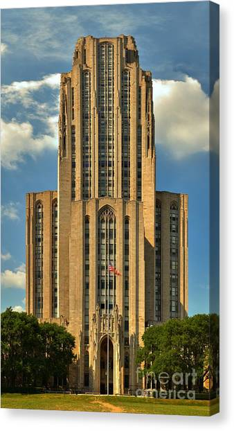 Oakland University Canvas Print - Pitt Cathedral Of Learning by Adam Jewell