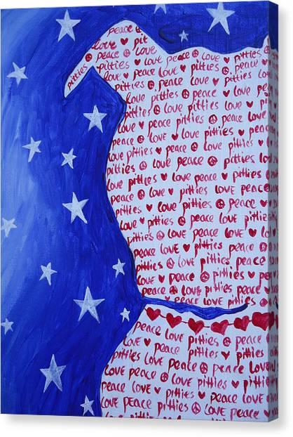 Pittie Love Canvas Print