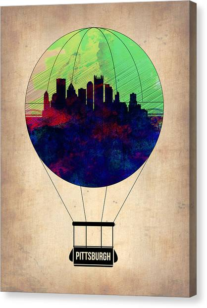 Pittsburgh Canvas Print - Pittsburgh Air Balloon by Naxart Studio