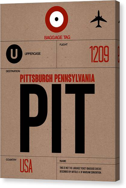 Pennsylvania Canvas Print - Pittsburgh Airport Poster 1 by Naxart Studio