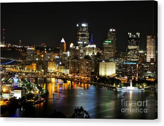 Pittsburgh Autumn Night 1 Canvas Print
