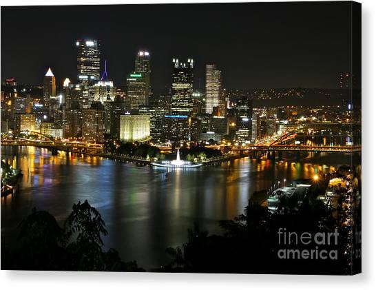 Pittsburgh Autumn Night 2 Canvas Print
