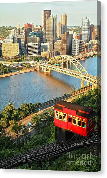 Pittsburgh Duquesne Incline Canvas Print