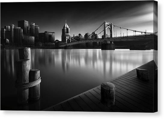 Marinas Canvas Print - Pittsburgh On Ice by Fred Gramoso