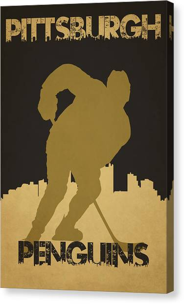 Pittsburgh Penguins Canvas Print - Pittsburgh Penguin by Joe Hamilton