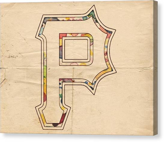 Pittsburgh Pirates Canvas Print - Pittsburgh Pirates Logo Art by Florian Rodarte