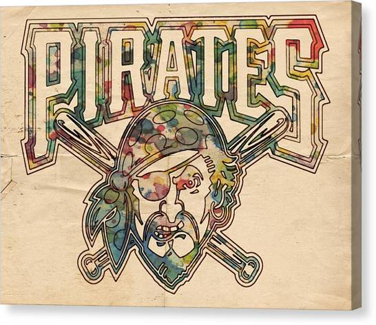Pittsburgh Pirates Canvas Print - Pittsburgh Pirates Poster Vintage by Florian Rodarte