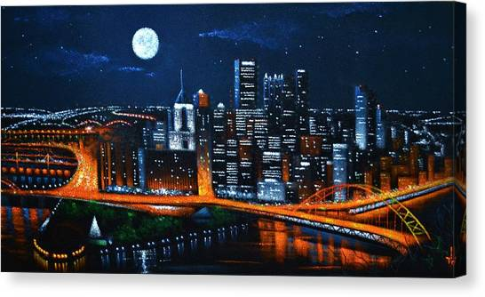 Pittsburgh  Sold Canvas Print