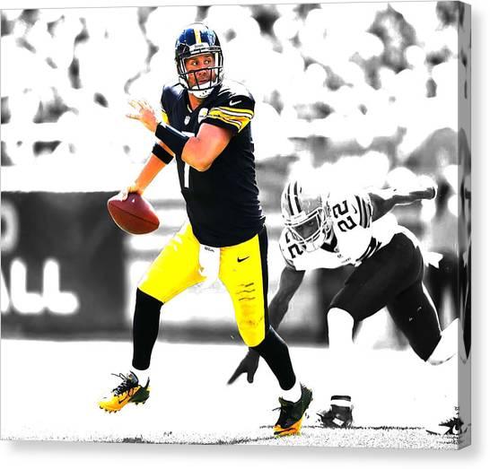 Ben Roethlisberger Canvas Print - Pittsburgh Steelers Ben Roethlisberger by Brian Reaves