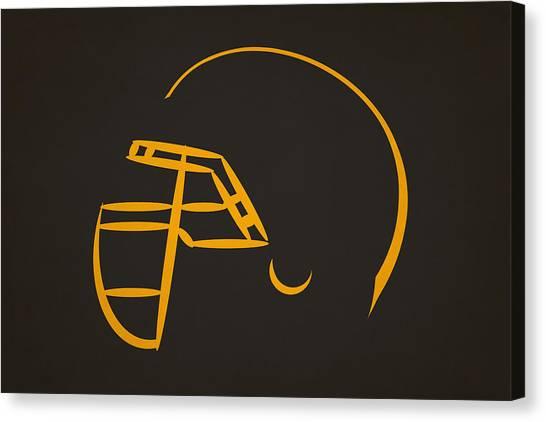 Pittsburgh Steelers Canvas Print - Pittsburgh Steelers Helmet by Joe Hamilton