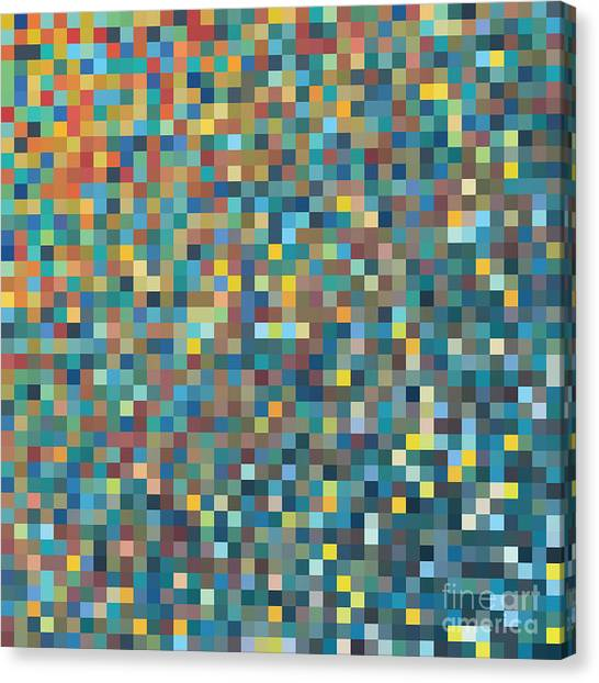 Pixel Art Vector Background Canvas Print by Mike Taylor
