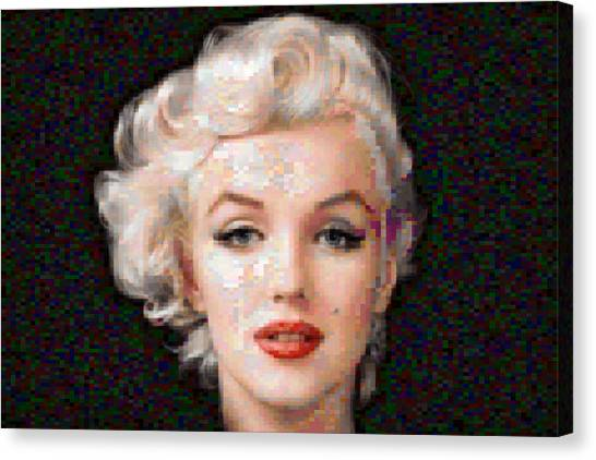 Pixelated Canvas Print - Pixelated Marilyn by Gina Dsgn