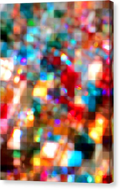 Pixelated Canvas Print - Pixelated Jelly Beans by Randall Weidner