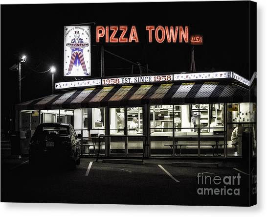 Pizza Town Canvas Print