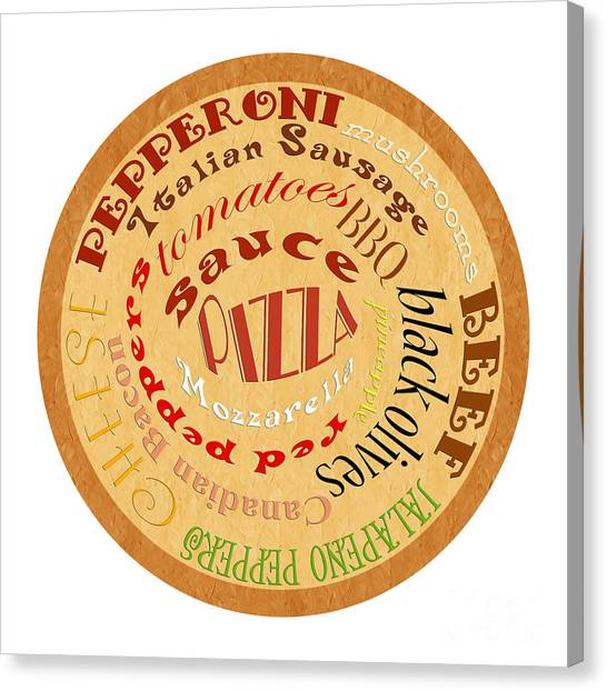 Pizza Typography 2 Canvas Print