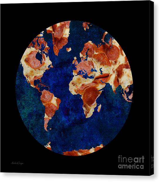 Pizza World Canvas Print