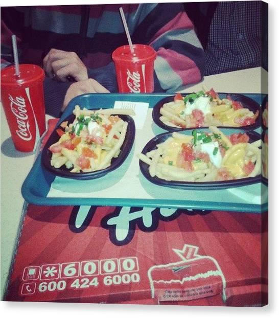 Salsa Canvas Print - #pizzahut #mall #comida #bajon #piola by Omar Alexander gaete