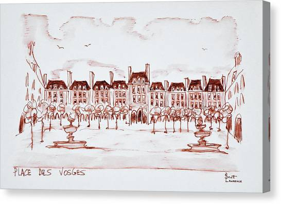 Scotty Canvas Print - Place Des Vosges In The Historic by Richard Lawrence