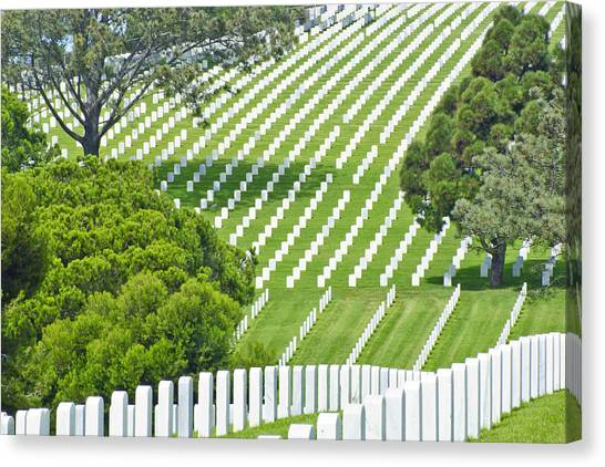 Fort Rosecrans National Cemetery Canvas Print - Place Of Honor by Patrick Moore