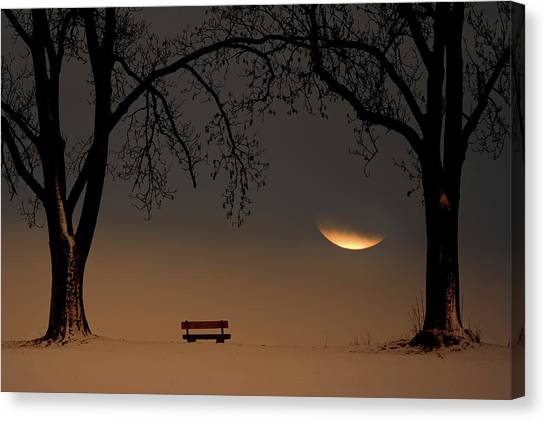 Bench Canvas Print - Place Of Silence by Ingo Dumreicher
