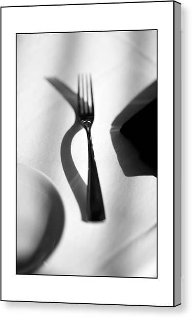 Place Setting Simplicity Canvas Print by Don Powers