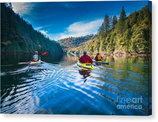 Placid Paddle Canvas Print
