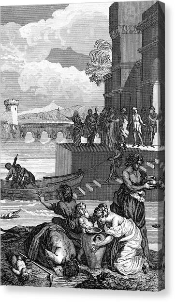 Torah Canvas Print - Plagues Of Egypt by Collection Abecasis/science Photo Library