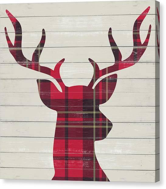 Plaid Canvas Print - Plaid Christmas I by Sd Graphics Studio