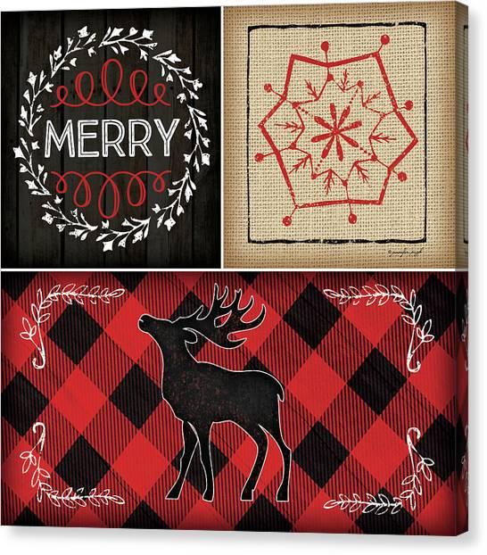 Plaid Canvas Print - Plaid Christmas IIi by Jennifer Pugh