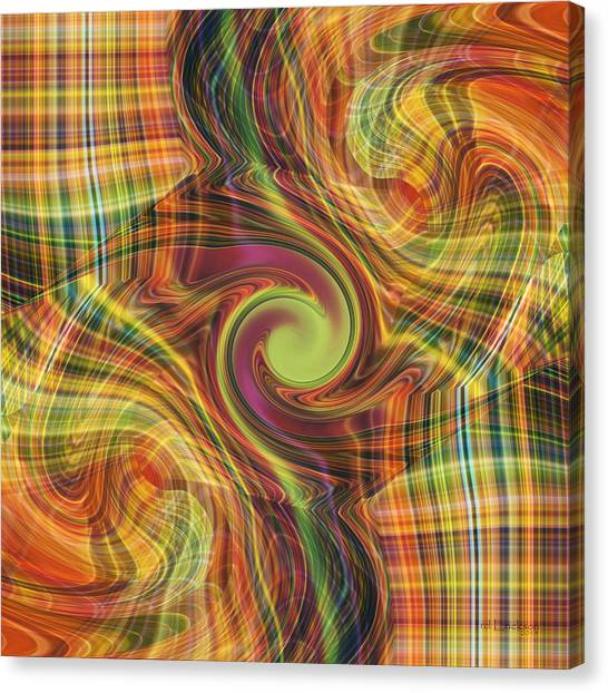 Plaid Tumble Canvas Print