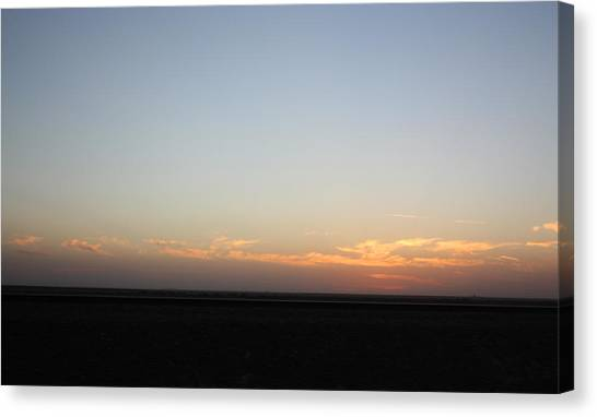 Plain Sunset Canvas Print